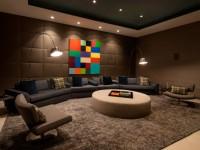 Коричневая гостиная — дизайн стильного интерьер в гостиной (85 фото)