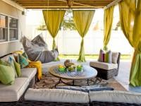 Оливковые шторы — 70 фото новинок оформления штор оливкового цвета