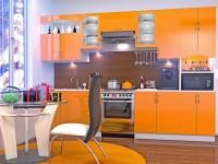Оранжевая кухня — 55 фото яркого и стильного дизайна для кухни