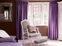 Фиолетовые шторы в интерьере — 70 фото идей дизайна