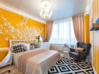 Желтая спальня — фото желтого дизайна в спальне