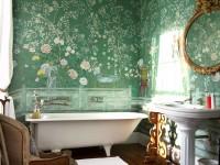 Обои для ванной — какие выбрать? 75 фото стильного оформления в интерьере