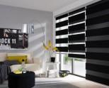 Рулонные шторы «Зебра» — 75 фото идей дизайна
