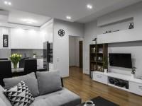 Серая гостиная — фото интерьера гостиной в серых тонах