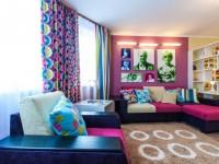 Яркие шторы — как правильно выбрать цвет? 70 фото готовых идей