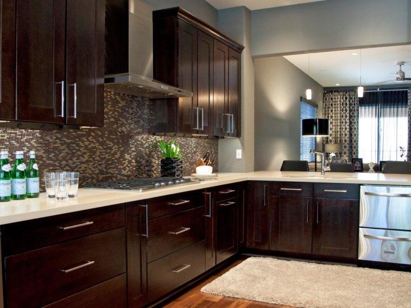 Кухни в коричневых тонах дизайн фото