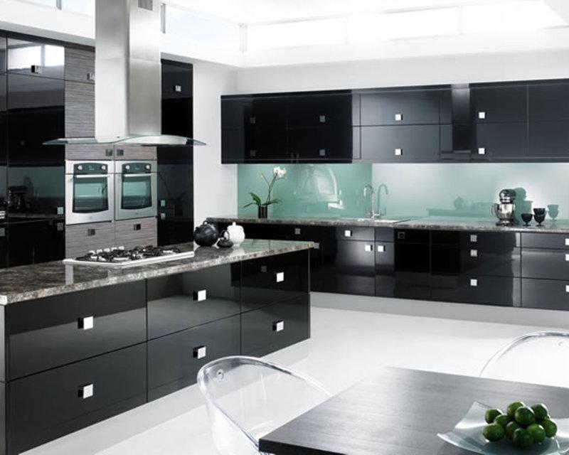 черно белая кухня 100 фото оригинальных решений модного дизайна