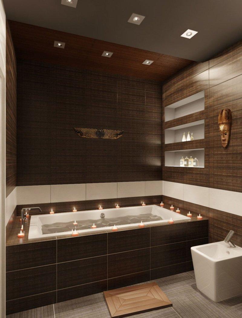 Коричневая ванной комнаты фото купить смеситель haiba в киеве