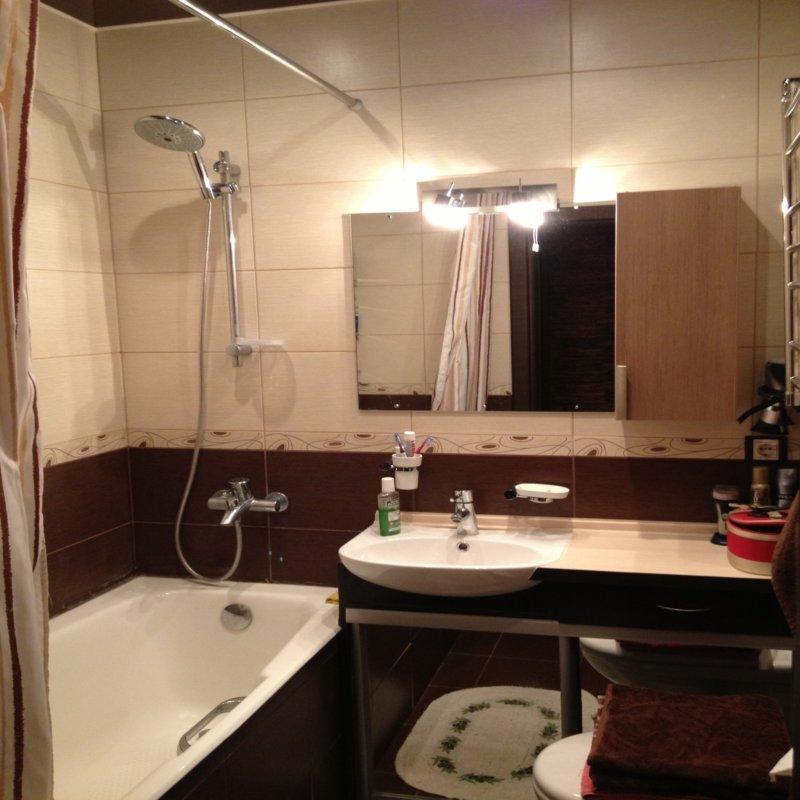 Ванная комната коричневый дизайн с