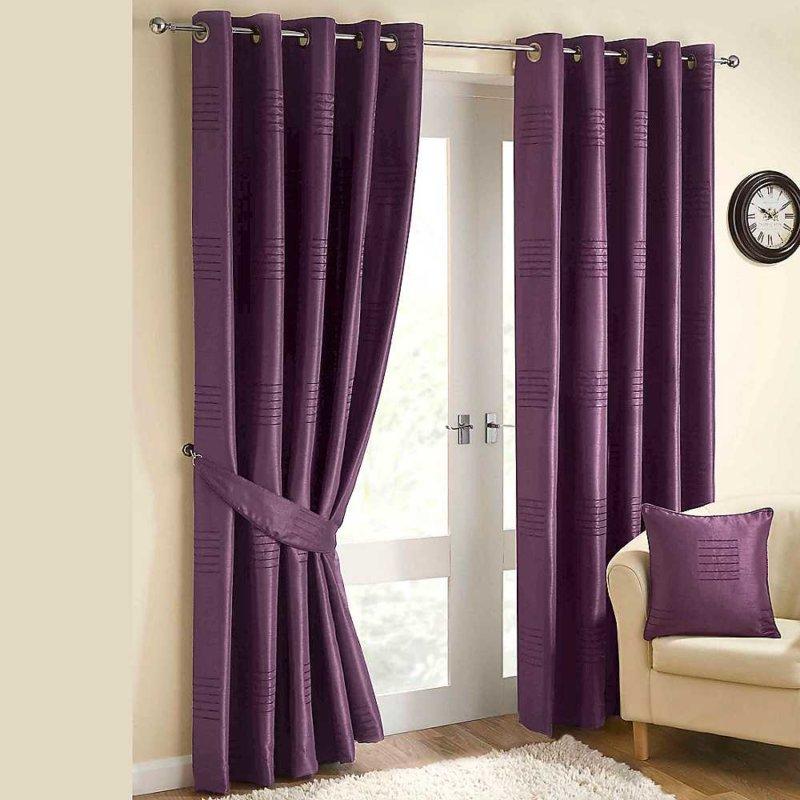 шторы для фиолетовой спальни фото