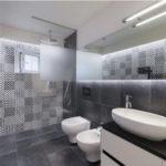 Раскладка плитки в ванной: фото обзор вариантов, секретов и схем дизайна