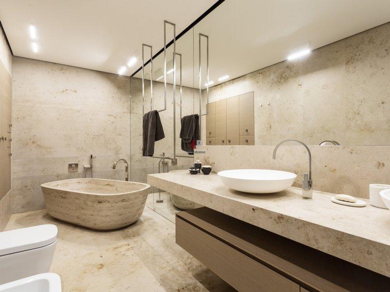 Дизайн ванной со столешницей