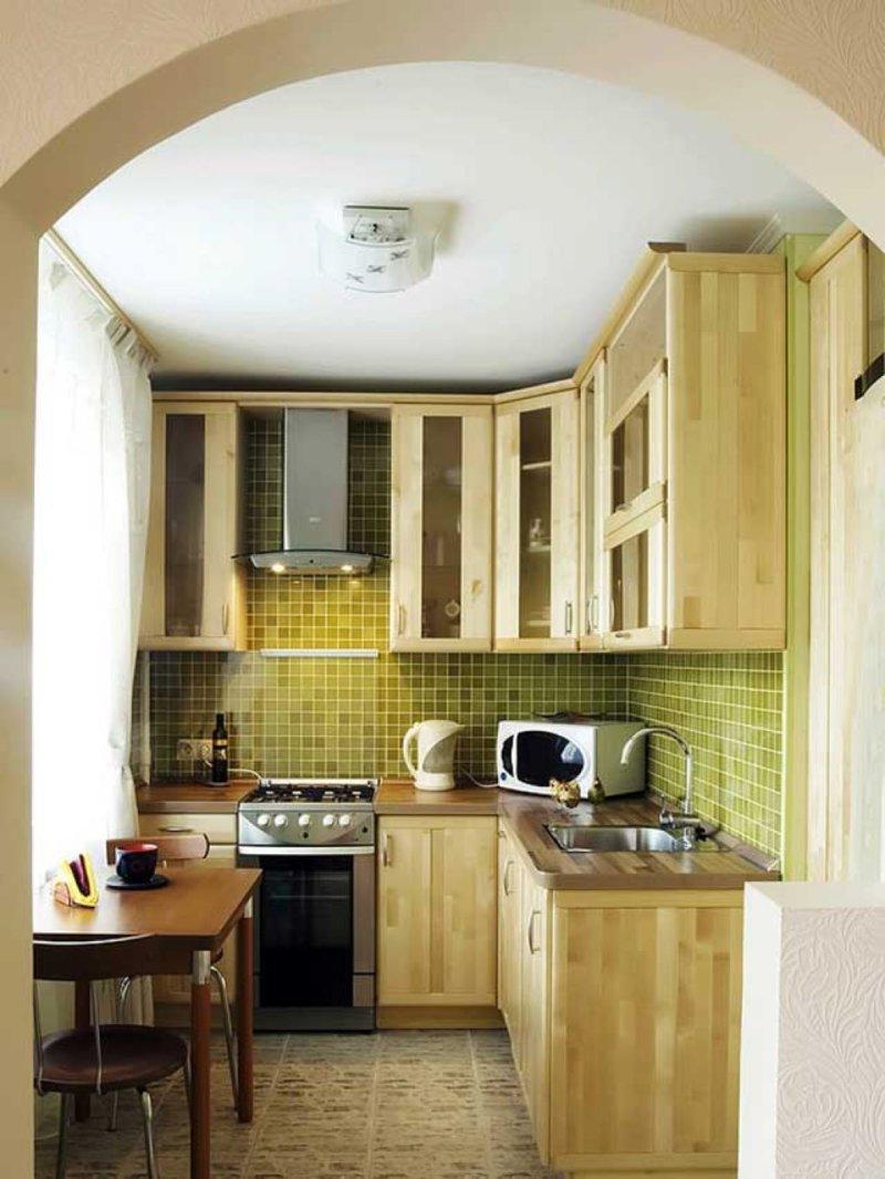 Кухня дизайн малогабаритной