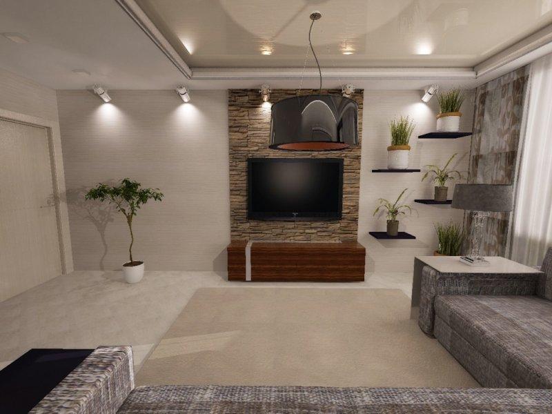 Дизайн гостиной 30 кв