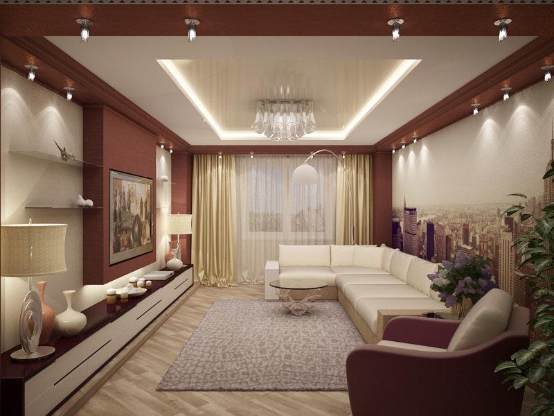 Дизайн гостиной 4 на 6