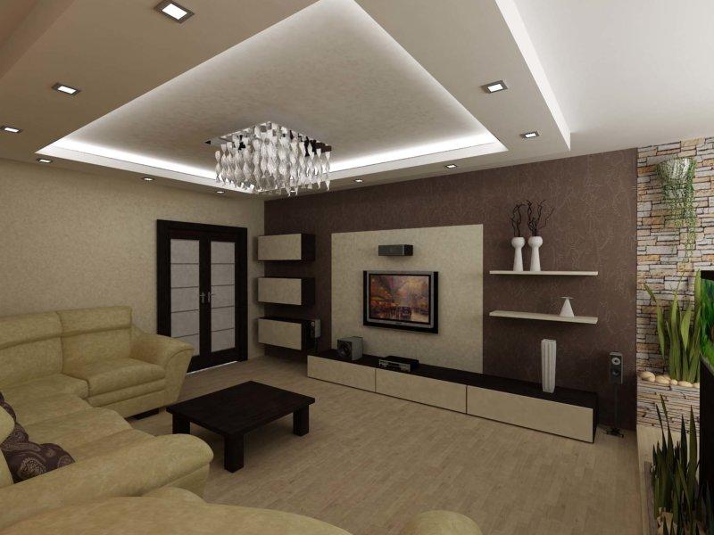 Дизайн квадратной гостиной 16 кв м