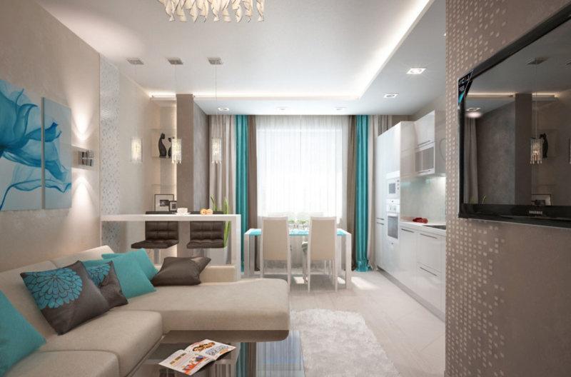 Дизайн гостинной комнаты 16 м. кв