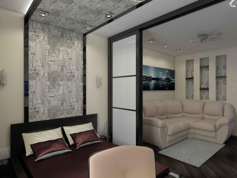 Гостиная 16 кв. м дизайн