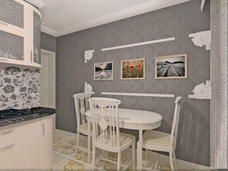 Дизайн стены на кухне 9 кв.м