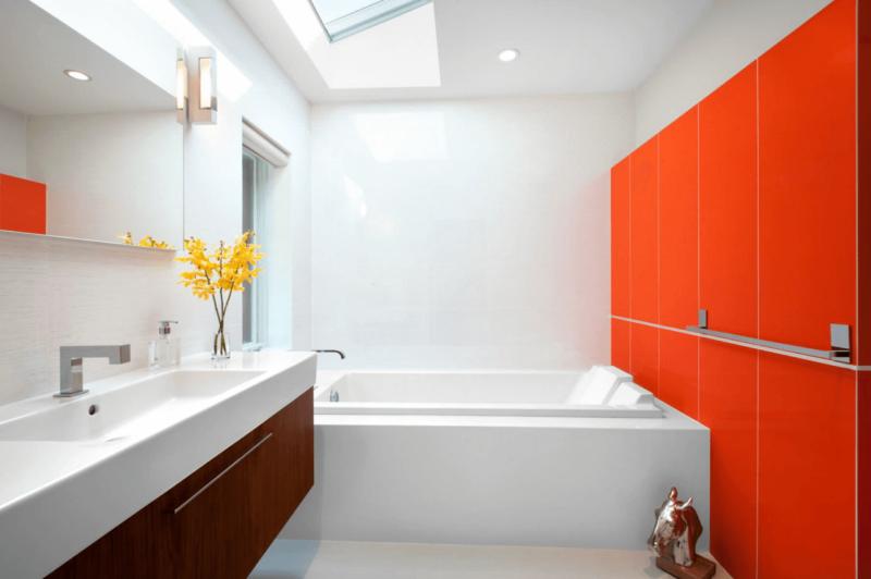 Ванная комната в оранжевом смеситель для ванной с душем купить в ярославле