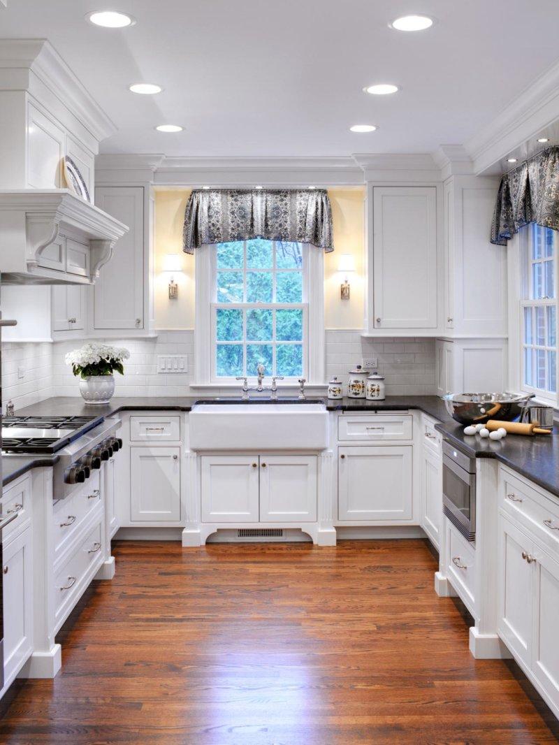 кухни буквой п с окном фото