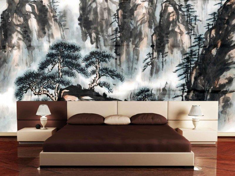 Дизайн спальни с фотообоями фото своими руками 82