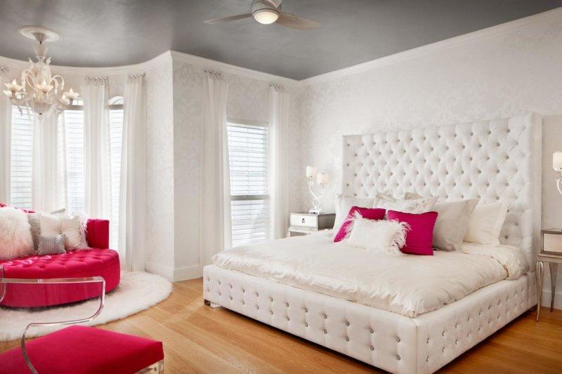 светлые обои в спальню 100 фото лучших идей сочетания в спальне