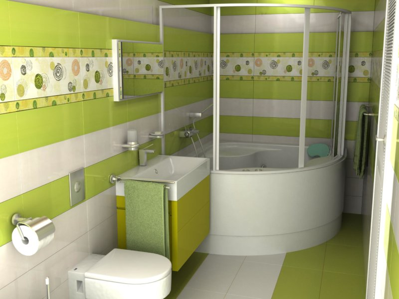 Ванная комната в салатовом цвете фото