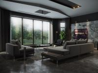 Черная гостиная — фото эксклюзивного дизайна