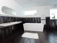 Черно белая ванна — 70 фото идей необычного сочетания дизайна