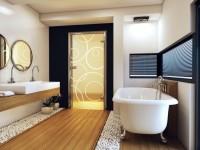 Двери в ванную комнату — какие лучше поставить? 70 фото идей