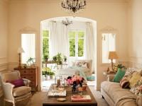 Гостиная в стиле прованс — красивый и необычный дизайна (54 фото)