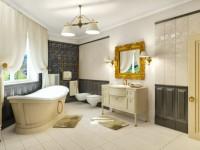Классическая ванная — 130 фото дизайна