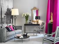 Розовые шторы — обзор нюансов сочетания в интерьере (45 фото)