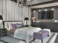 Тюль в спальню — советы по выбору и оформлению в интерьере (55 фото)