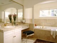 Бежевая ванная комната: обзор особенностей бежевого оттенка в интерьере (70 фото)