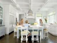 Дизайн кухни в частном доме — 100 фото элегантного интерьера в современном стиле