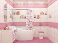 Розовая ванная комната — 70 фото стильного дизайна