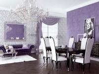Сиреневая гостиная — 65 фото идей элегантного дизайна