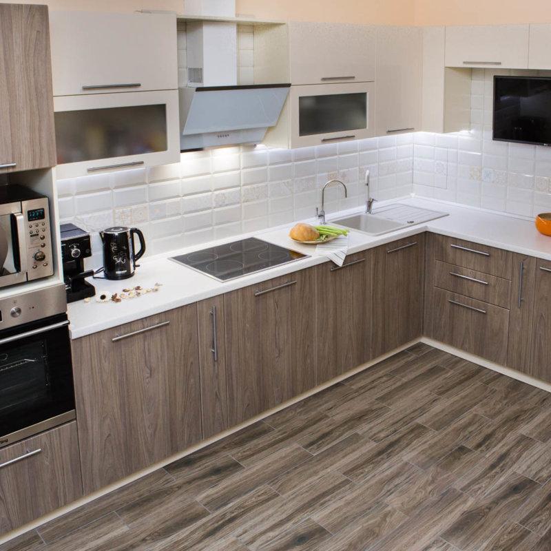 кухня угловая мебель дизайн интерьер фото