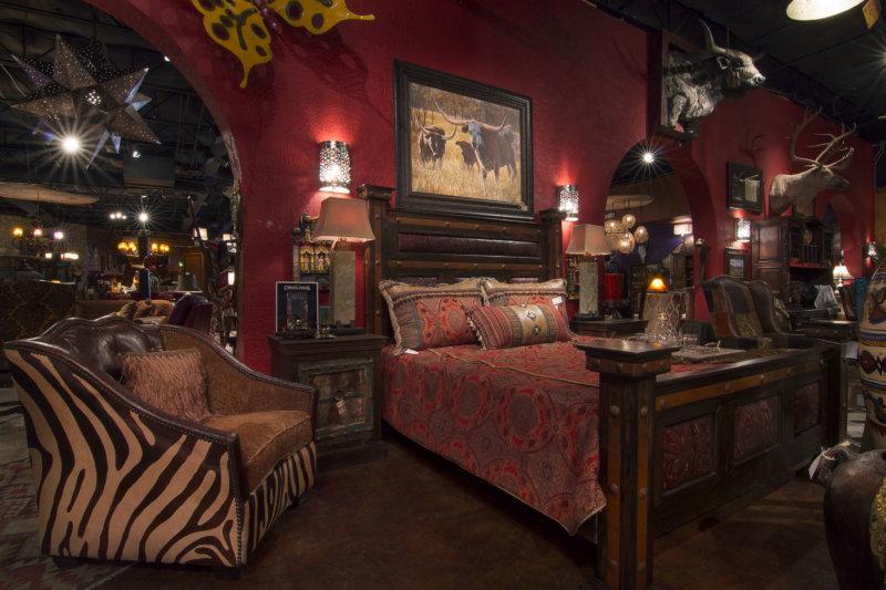 Спальня бордового цвета
